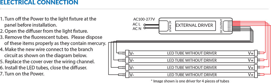 Patriot Tube with External Driver Series | Tube Led Driver Wiring Diagram External |  | Patriot LED