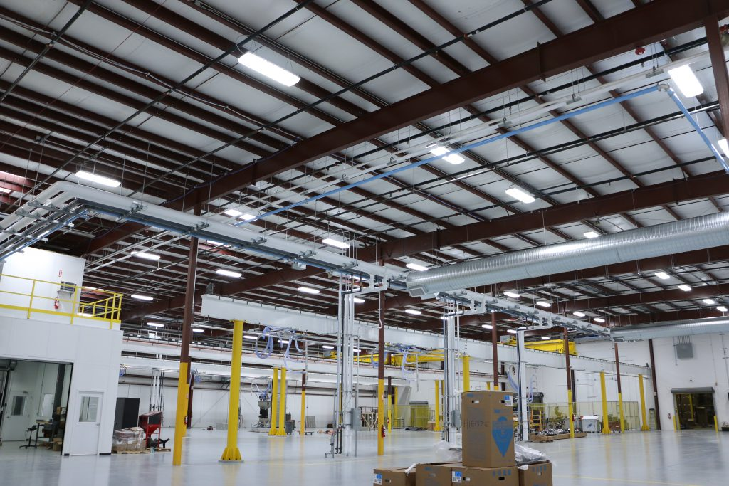 Application of LED Vapor Tight High Bays